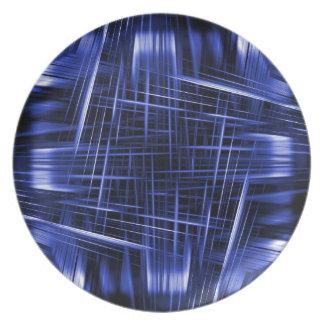 Blue light beams pattern plate