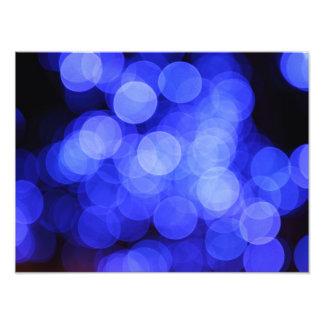 Blue Light Circles Blur Art Photo