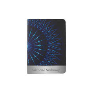 Blue Light Mandala Passport Holder