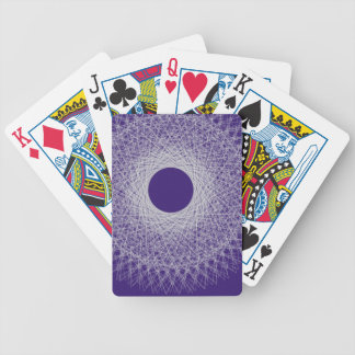 blue light radiating white light universe playing cards