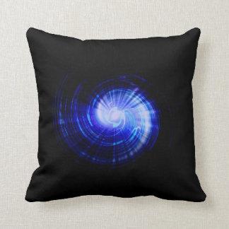 Blue light rays Art Design Cushions