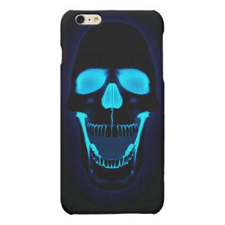 blue light skull head