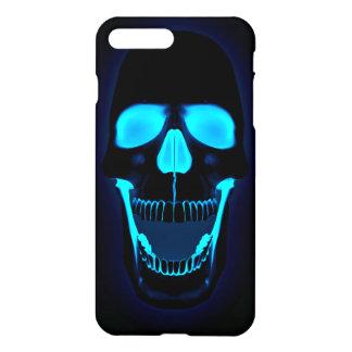 blue light skull head iPhone 7 plus case
