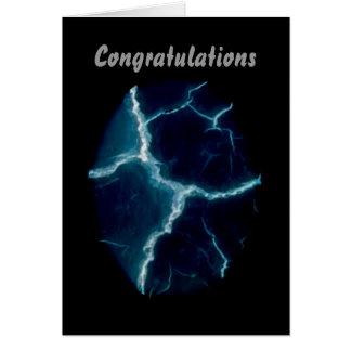 Blue Lightening,Congratulations Card