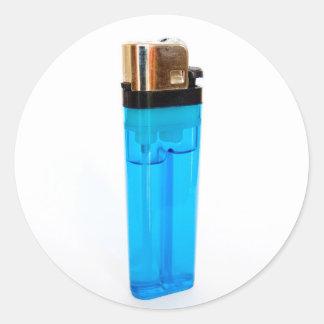 Blue Lighter Round Sticker