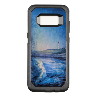 Blue lighthouse and ocean waves OtterBox commuter samsung galaxy s8 case