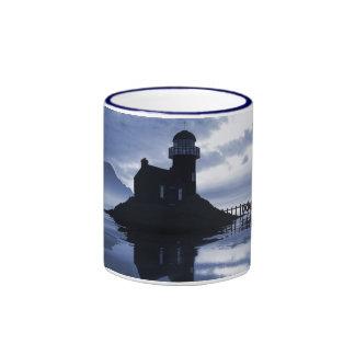Blue lighthouse mug