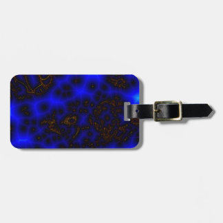 Blue Lightning Abstract Luggage Tag