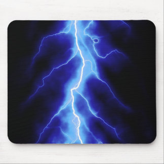 blue lightning bolt mouse pad
