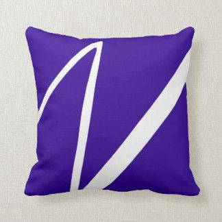 Blue Lightning Strike Zig Zag Cushion
