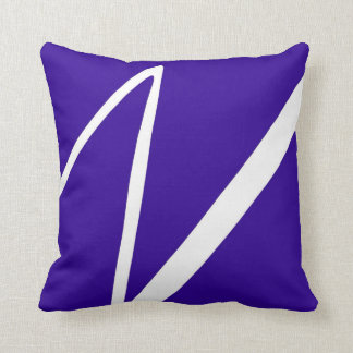 Blue Lightning Strike Zig Zag Throw Pillow
