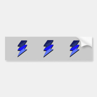 Blue Lightning Thunder Bolt Bumper Sticker