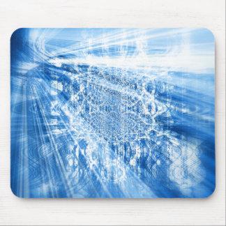 BLUE LIGHTS Pad Mouse Pad