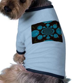 Blue Lights Ringer Dog Shirt