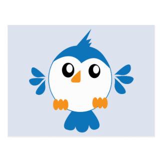 Blue Lil' Bird Postcard