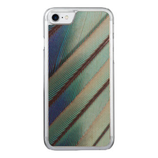 Blue Lilac Breasted Roller feather Carved iPhone 7 Case