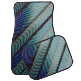 Blue Lilac Breasted Roller feather Floor Mat