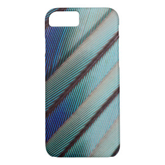 Blue Lilac Breasted Roller feather iPhone 7 Case