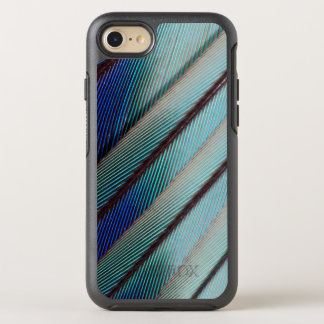 Blue Lilac Breasted Roller feather OtterBox Symmetry iPhone 7 Case
