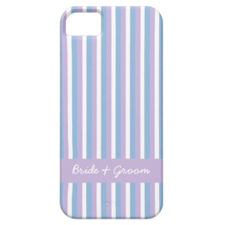 Blue Lilac White Stripes lilac Wedding iPhone 5 iPhone 5 Case