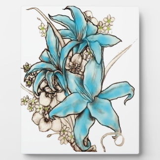 Blue Lilies Display Plaques