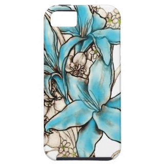 Blue Lilies iPhone 5 Covers