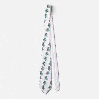 Blue lilies tie