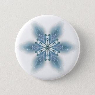 Blue Lily 6 Cm Round Badge