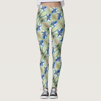 Blue Lily Leggings