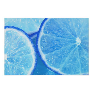 Blue Lime Poster