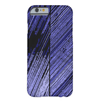 Blue line art, scratch design, stripes pattern barely there iPhone 6 case