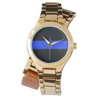 Blue Line Gold Wraparound Watch