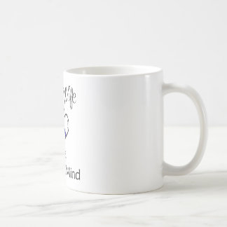 blue line hearts coffee mug