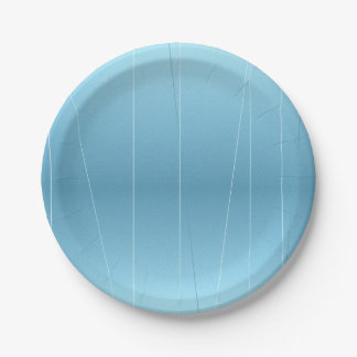 Blue Line Print 7 Inch Paper Plate