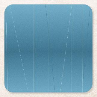 Blue Line Print Square Paper Coaster