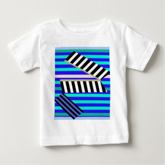 Blue lines decor baby T-Shirt