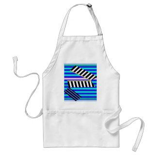 Blue lines decor standard apron