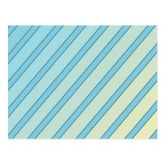 Blue lines postcard