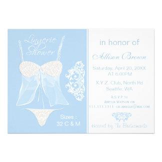 Blue Lingerie Shower Bachelorette Party Invitation