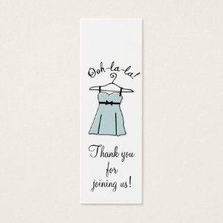 Blue Lingerie Shower Gift Tags Mini Business Card