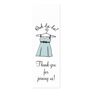Blue Lingerie Shower Gift Tags Pack Of Skinny Business Cards