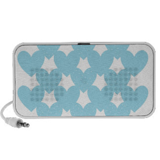 Blue Linked Hearts iPhone Speaker