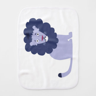 Blue lion blue burp cloth