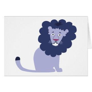 Blue lion blue card