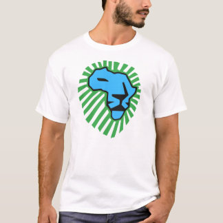 Blue Lion Green Mane Waka Waka Shirt