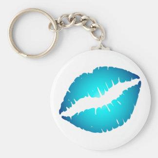 Blue Lips Key Ring