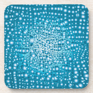 Blue Liquid Background Drink Coasters
