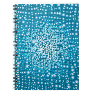 Blue Liquid Background Notebook