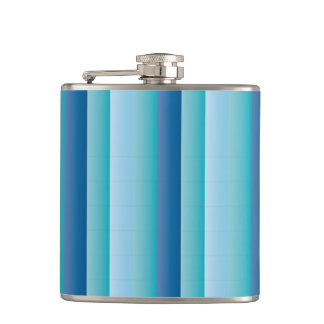 Blue Lists Hip Flask