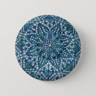 Blue little flower button